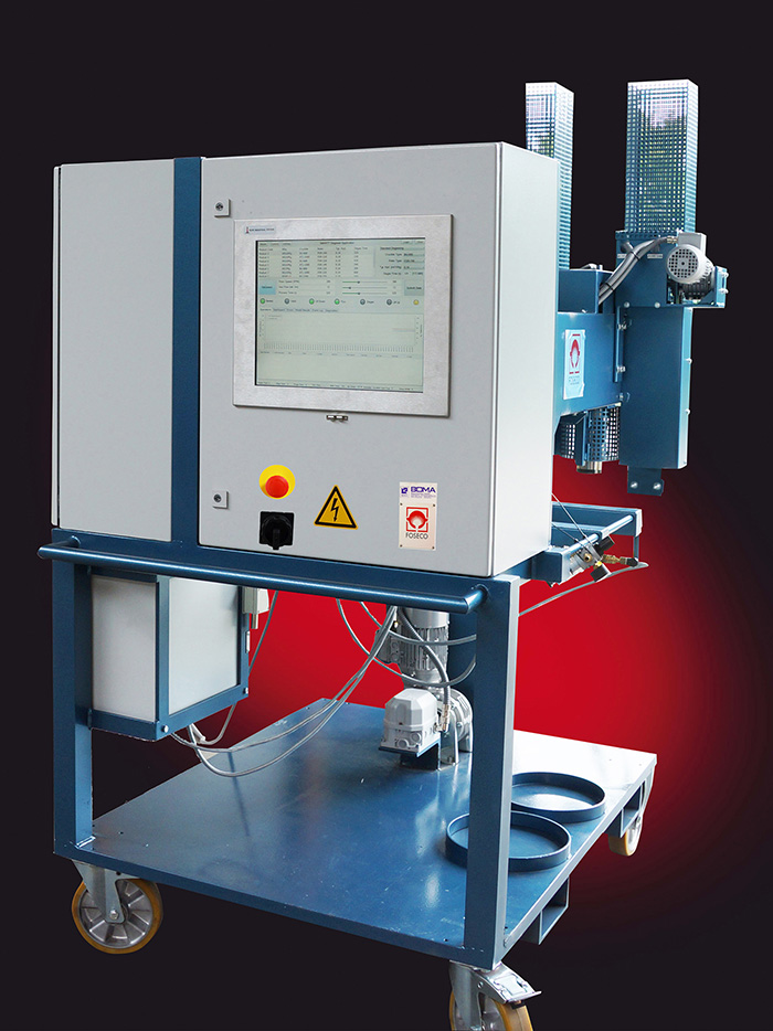 Foseco_MTS-treatment-station-with-new-SMARTT-degassing-process-control-software-unit